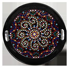 Denville Mosaic Mandala Tray