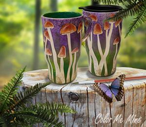 Denville Mushroom Mugs