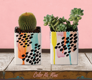 Denville Drippy Square Planters