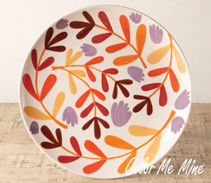 Denville Fall Floral Charger