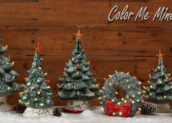 Light up ceramic Christmas Trees